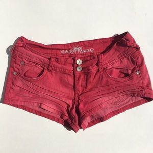☀️3/$25 Almost Famous Low Rise Red Shorts